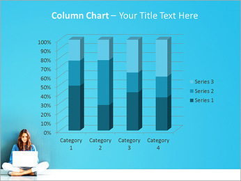 Lady With Laptop PowerPoint Template - Slide 30