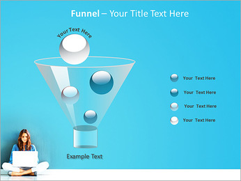 Lady With Laptop PowerPoint Template - Slide 43