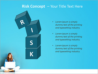 Lady With Laptop PowerPoint Template - Slide 61