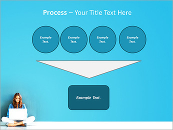Lady With Laptop PowerPoint Template - Slide 73