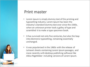 Lady With Laptop PowerPoint Template - Slide 76