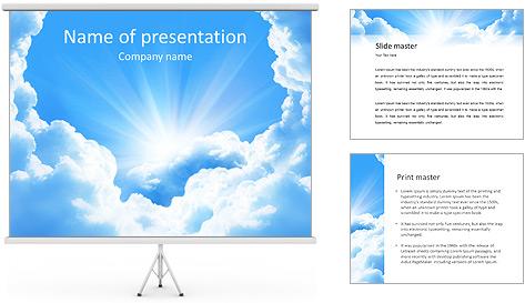 Heaven Light PowerPoint Template