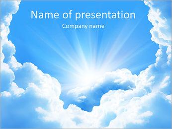 Heaven Light PowerPoint Template - Slide 1