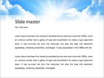 Heaven Light PowerPoint Template - Slide 2