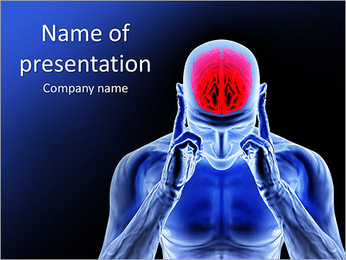 Red Brain PowerPoint Template