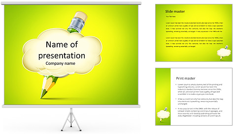 Pencil Writing PowerPoint Template