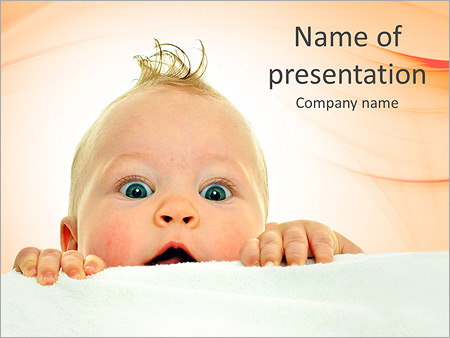 curious baby powerpoint template & backgrounds id 0000005313, Modern powerpoint