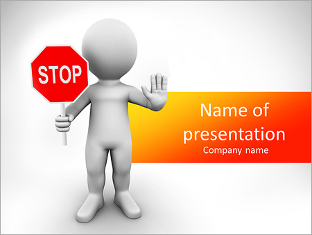 stop sign powerpoint template backgrounds google slides id