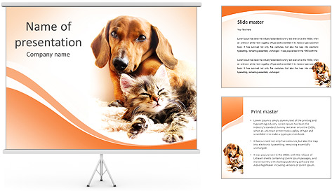 Шаблоны для презентаций powerpoint с кошкой