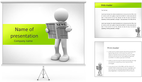 Newspaper PowerPoint Template Backgrounds ID 0000005344 – Newspaper Powerpoint Template