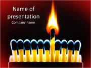 Burning Matches PowerPoint Templates