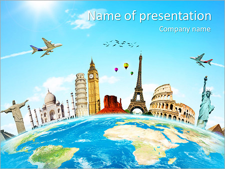 Travel Tour Powerpoint Template & Backgrounds Id 0000005360