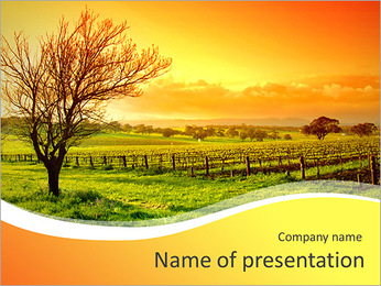 Autumn In Village PowerPoint Template