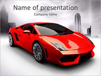 Voiture de luxe Modèles des présentations  PowerPoint