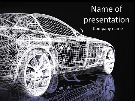 car model powerpoint template amp backgrounds id 0000005375