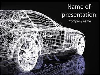 Modèle de voiture Modèles des présentations  PowerPoint - Diapositives 1