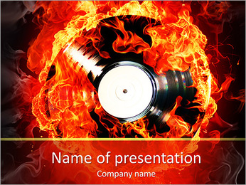 Burning Vinyl PowerPoint Template