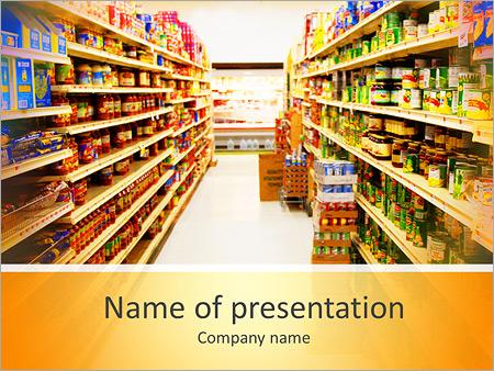 Food drink powerpoint templates backgrounds google slides products in supermarket powerpoint template toneelgroepblik Gallery