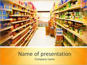 Products In Supermarket PowerPoint Templates