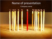 Red Matches PowerPoint Templates