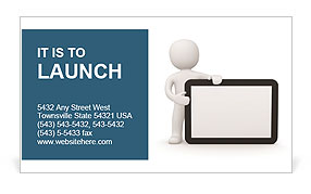 IPad Model Business Card Template