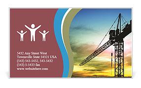 Building crane business card template design id 0000005410 building crane business card template colourmoves