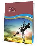 Building Crane Folhetos de apresentação