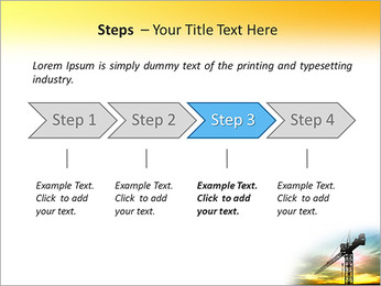 Construção Guindaste Modelos de apresentações PowerPoint - Slide 4