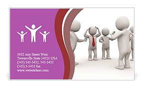 Conflict Solving Business Card Template