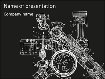 Schemat mechanizmu Szablony prezentacji PowerPoint