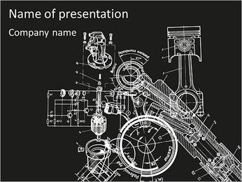 Esquema Mecanismo Plantillas de Presentaciones PowerPoint