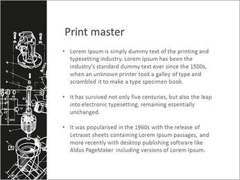 Схема Механизм Шаблоны презентаций PowerPoint