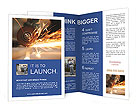 Metal sawing close up Brochure Templates