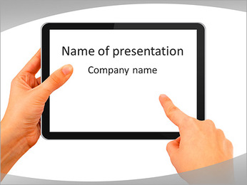 IPad Screen PowerPoint Template