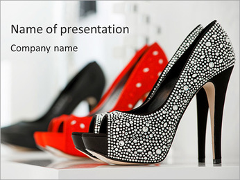 Fashionable Shoes PowerPoint Template