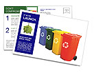 Waste Products Container Postcard Template