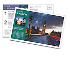 London At Night Postcard Template