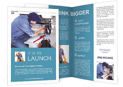 engineering brochure templates - sanitary engineering brochure template design id