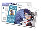 Sanitary engineering Postcard Template