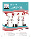 Team With Lined Paper Flyer Template