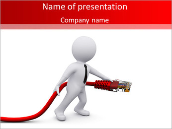Computer Port PowerPoint Template