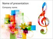 Hudební poznámky PowerPoint šablony