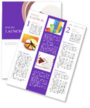Two Colored Chart Newsletter Templates