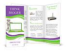 Green Laptop Brochure Templates