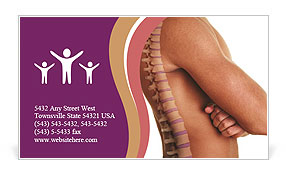 Human Spine Business Card Template