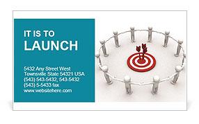 Team Target Business Card Template