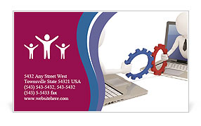 Mutual Work Business Card Template