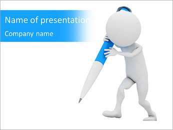 Man With Pencil PowerPoint Template