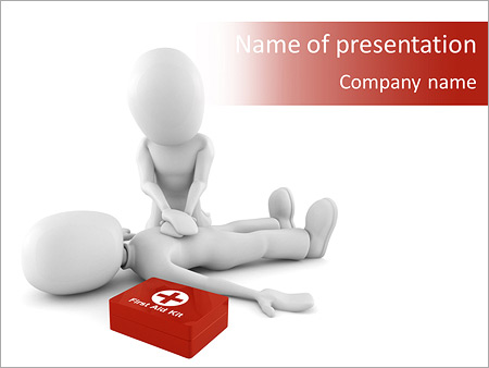 First Aid Help Powerpoint Template Backgrounds Google Slides Id
