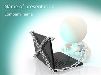 Computer In Chain PowerPoint Template